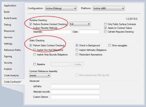 Enabling contract checking