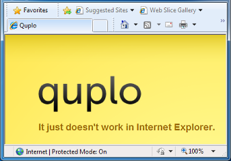 Quplo in IE